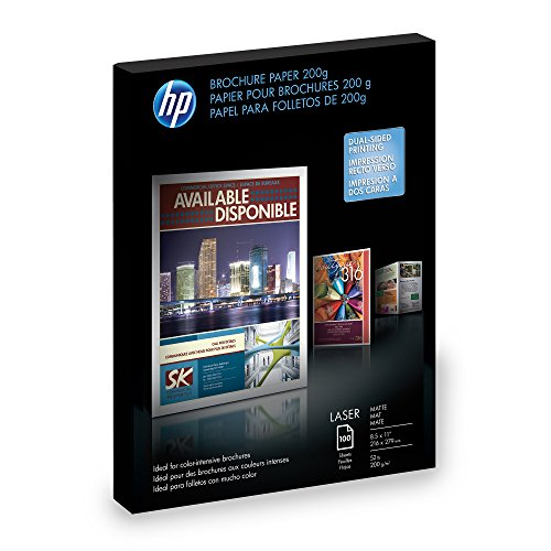HP Q8824A Brochure Paper for Laser Printer, Matte, 8.5x11, 100 Sheets DISCONTINUED BY MANUFACTURER