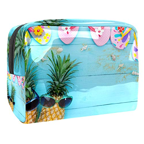 Tropical Fruit jpg - Bolsa de maquillaje pequeña (18,5 x 7,6 x 13 cm)