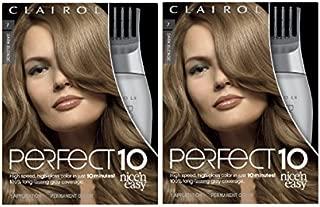 Clairol Nice'n Easy Perfect 10 Permanent Hair Color, 7 Dark Blonde, Pack of 2
