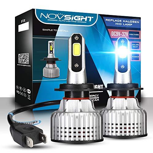 2 Pcs Bombilla LED Coche con Resistente al Agua, 72W 10000LM Luces LED para Reemplazo del Bombilla del Faro para Coche, 12V 6500K Blanco Frío,H13