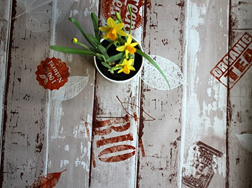 Wipe Clean Tablecloth\Oilcloth by WJDhome.140x200cm Vinyl,PVC Grey Flowers