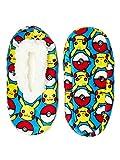 Pokemon Pikachu AOP Boys Fuzzy Babba Slippers (Small/Medium)