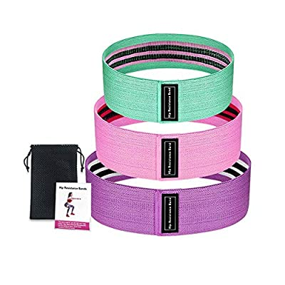 FW Free Walker Resistance Bands Set Exercise Bands,Workout Bands Stretch Bands for Legs Butt Glutes Yoga Fitness Physical Therapy Pilates Training Equipment for Home Gym