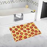 YXUAOQ Pepperoni Pizza Uso de Textura de Alimentos Alfombra de baño Antideslizante Personalizada Alfombra de baño Alfombra de Piso Alfombra para baño 20 X 32 Pulgadas
