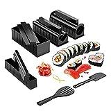 Kit Fabricante Sushi Formas Molde únicas 10PCS Kit Plástico Kit Bricolaje para Hacer Sushi En Casa Juego Herramientas Sushi Molde Rollo Arroz Traje Molde Multifuncional La Mejor Opción