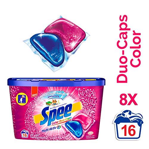 Spee Duo-Caps Color, Waschmittel, 128 (8 x 16) Waschladungen mit mehr Frische-Gefühl