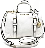Michael Kors Jacquard Monogram Ginger Small Duffle Satchel (Optic White)