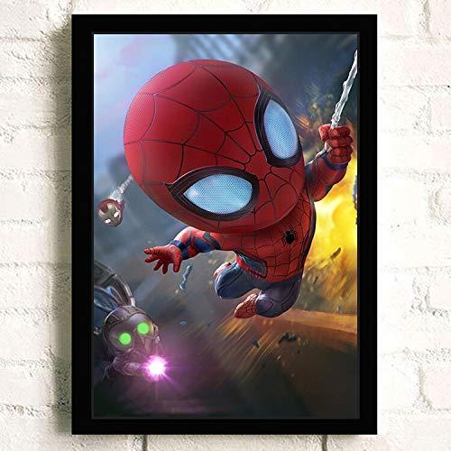 UIOLK Personajes de películas de Primer Plano Justicia, Valiente, poderoso Avatar araña superhéroe Arte Carteles e Impresiones Lienzo a Nivel de Museo Mural de superhéroe Regalos