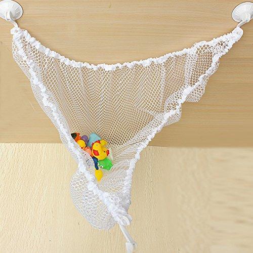Bluelover Kinderspeelgoed hangmat nylon houder elastische opslag mesh tas