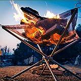 Zhouzl Productos de Camping Barbacoas Plegables al Aire Libre portátiles de la Herramienta de la Barbacoa del Acero Inoxidable, Estufa Ultra-Ligera de la Rejilla Productos de Camping
