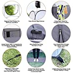 """Leader Accessories Pop Up Shower Tent Dressing Changing Tent Pod Toilet Tent 4' x 4' x 78""""(H) Big Size 6"""