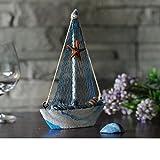 KESOTO 3 Stück Holz Segelschiff Deko Maritim Dekoartikel MEER Schiff Boot - 6