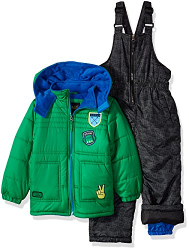 iXtreme Boys' Baby Active Colorblock Snowsuit, Green, 12M