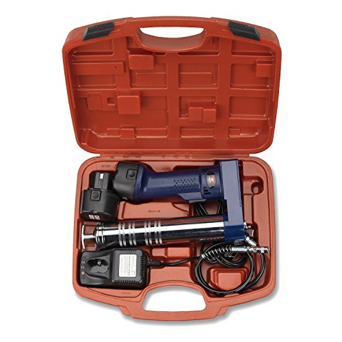 Neiko 12-volt Rechargeable Cordless Grease Gun with Case, Max at 6500PSI -