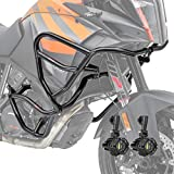 Set Defensas + Faro Adicional XL para KTM 1050 Adventure 15-16 Negro