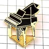 限定 レア ピンバッジ 音楽グランドピアノ黒い楽器 ピンズ フランス