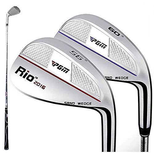 Cuña de arena de hierro de golf de 56 grados para hombres y mujeres, palos de golf Drivers Chipper Pitching Wedge de acero inoxidable forjados hierros de golf (rojo-60°)