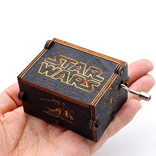 Funmo - Puro Mano clásico Star Wars Caja de música Caja de música de Madera a...