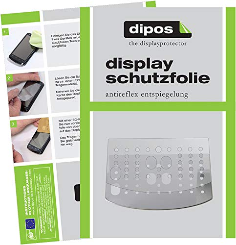 dipos I 3X Schutzfolie matt kompatibel mit DeLonghi Magnifica S ECAM 22.110 + 21.117 + 21.116 Tropfblech Folie Displayschutzfolie