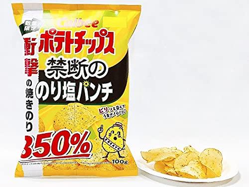 【販路限定品】カルビー ポテトチップス 禁断ののり塩パンチ 100g×12袋
