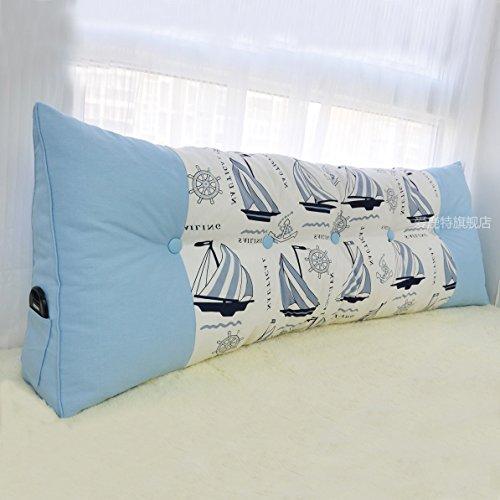 Uus riangle sofa kussen bedhoofd ergonomisch ontwerp rugleuning zacht & comfortabele moderne populaire bedhoofd taille zorg kussen 180 * 60 * 20cm
