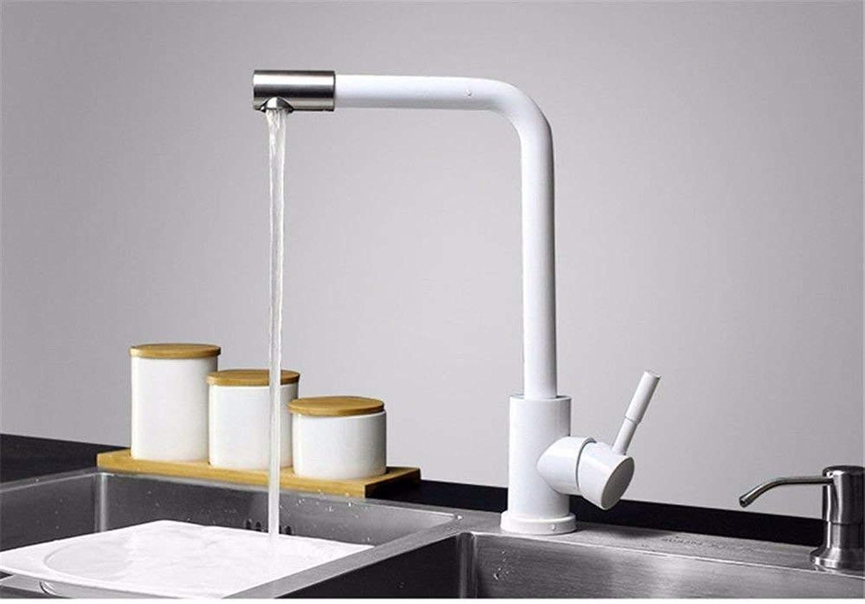 FUWUX Home Waschbecken Mischbatterie Badezimmer Küchenbecken Wasserdicht Dichten Wasser sparen 304 Edelstahl Heie und kalte Sprühfarbe Farbe Küche Rotierenden Tank