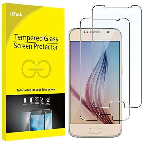 JETech Film de Protection d'écran pour Samsung Galaxy S6 en Verre Trempé, Lot de 2