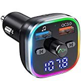 Best Car Bluetooth Adapters - Weback Bluetooth FM Transmitter for Car, BT 5.0 Review