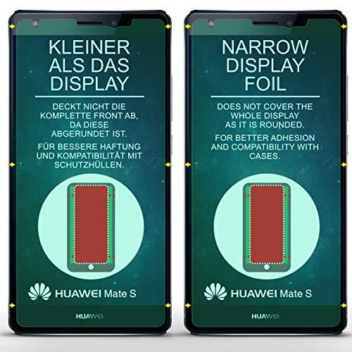 5X Huawei Mate S | Schutzfolie Matt Display Schutz [Anti-Reflex] Screen Protector Fingerprint Handy-Folie Matte Displayschutz-Folie für Huawei Mate S Displayfolie - 2