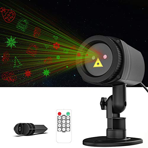 Ltteny Christmas Projector Lights, 16 RG Patterns Christmas Lights Holiday Starry Decorating Projector Lights with RF Remote, LED Light Projector, Projection Light Outdoor IP65 Waterproof