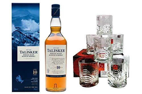 Talisker 10 years + 6 Tumbler Skye Single Malt Scotch Whisky 45,8% 0,7l Flasche