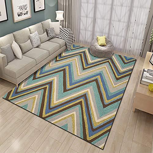 XYGB Alfombra para sala de estar, diseño 3D, no destiñe, antideslizante, sin formaldehído, lavable a máquina, dormitorio comedor, alfombra suave para sala de estar, alfombra para niños P-120 x 160 cm