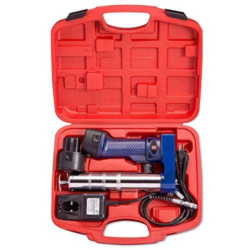Neiko 12000A 12V Cordless Grease Gun, 6500 PSI | Dual Ni-Cd Rechargeable Batteries Included