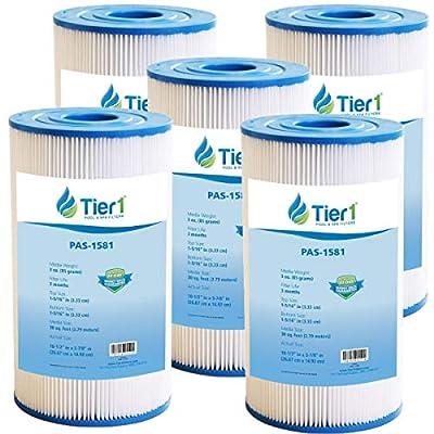 Tier1 Replacement for Watkins 31489, Pleatco PWK30, Filbur FC-3915, Unicel C-6430 Spa Filter for HotSprings Spas & Watkin Spas 5 Pack
