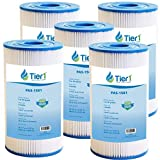 Tier1 Pool & Spa Filter Replacement for Watkins 31489 Spa Filters and for Hot Spring & Watkin Pool & Spas - Pleated Water Filter to Reduce Water Contaminants - 5 Pack