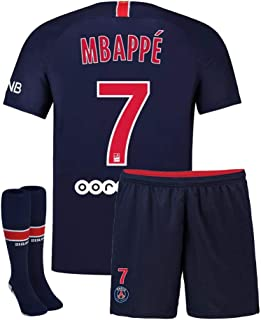 Youth Mbappe Jersey 7 Saint Germain 2018-2019 Kids Home Soccer Shorts Socks