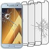 ebestStar - [Lote x3 Cristal Templado Compatible con Samsung A5 2017 Galaxy SM-A520F Protector de Pantalla, Película Vidrio Protectora Ultrafina, Dureza 9H, Sin-Burbujas [Aparato: 145x71x7.8mm 5.2']