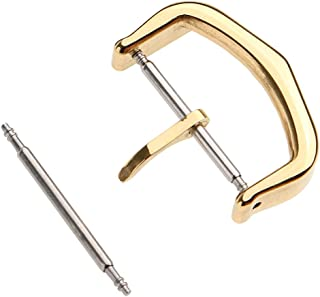 Baosity Stainless Steel Watch Bands Replacement Pin Buckles Watch Straps Clasps Gold