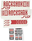 Ecoshirt EO-YFHE-YSSO Pegatinas Stickers Fork Rock Shox SID 2018 Am179 Aufkleber Decals Autocollants Adesivi Forcela, Rojo
