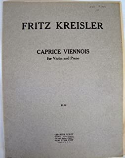 Fritz Kreisler For Violin and Piano Caprice Viennois 1014