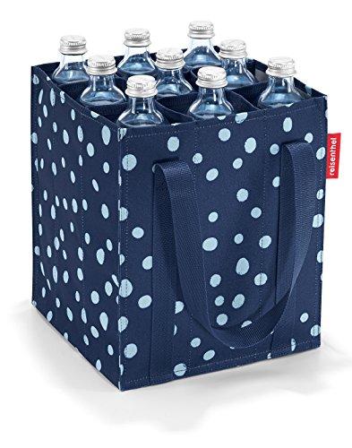 Reisenthel Bottlebag Sac porte-bouteilles, Polyester, spots navy, 24 x 28 x 24 cm