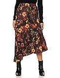 Joe Browns Asymmetric Floral Skirt Jupe, Noir/Marron, 36 Femme