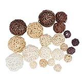 Artibetter 21pcs palle di rattan di vimini palline decorative riempitivi per vasi per deco...