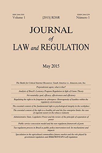 Journal of Law and Regulation / Revista de Direito Setorial e Regulatório: Vol. 1, Issue 1 (Portuguese Edition)