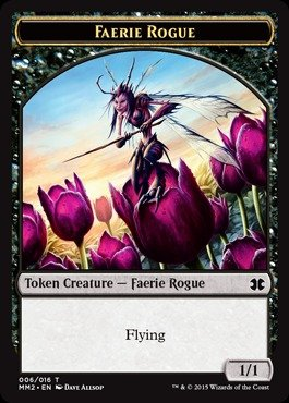 Magic The Gathering - Faerie Rogue Token (006/016) - Modern Masters 2015