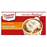 Duncan Hines Mug Cakes Carrot Cake Mix with Cream Cheese Frosting, 12.9 OZ