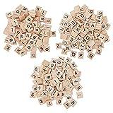 CHGCRAFT Clever - Juego de 300 piezas de 3 juegos de letras de Scrabble de madera, para decoración de manualidades, letras y azulejos de ortografía