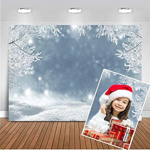 Mehofoto congelado Mundo telón de Fondo 7x5ft Bosque de Hielo Copo de Nieve Foto telones de Fondo Navidad Invierno fotografía Fondo