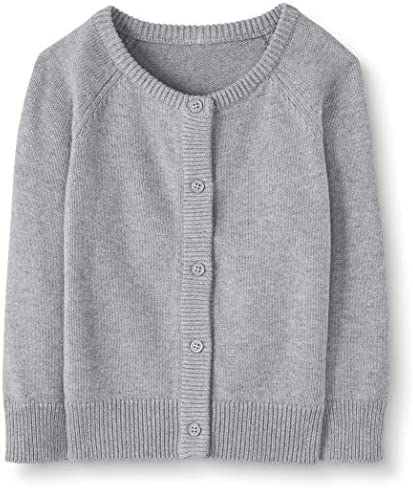 Moon and Back by Hanna Andersson Little Girls Baby Toddler Cardigan Sweater Heather Grey 5T product image