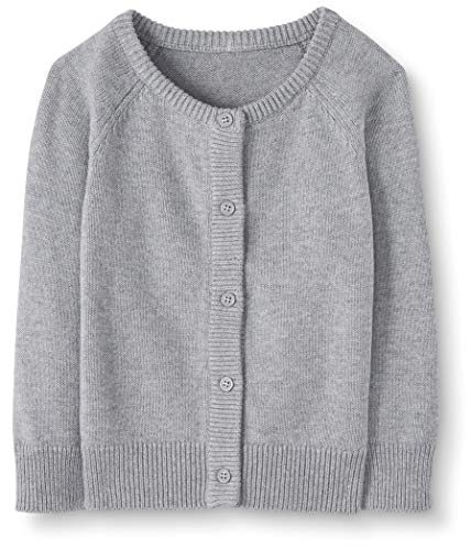 Moon and Back Baby Toddler Cardigan Sweater Infant-and, Gris chiné, 2 Ans